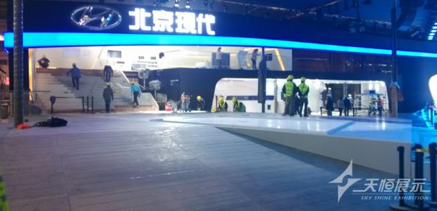 2014北京车展北京现代展台制作搭建_车系项目_天恒